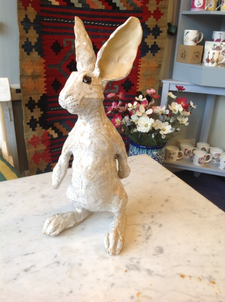 Hand sculpted Hare by Sue Whimster