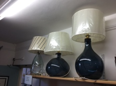 Large bottle lamps