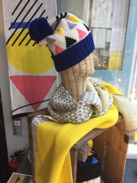 Hats and scarves by Miss Pom Pom