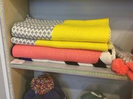 Colourful scarves by Miss Pom Pom