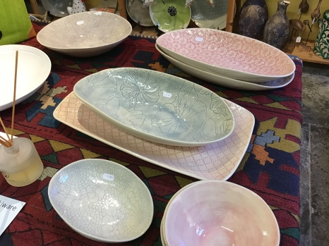 Pastel coloured Wonkiware from South Africa