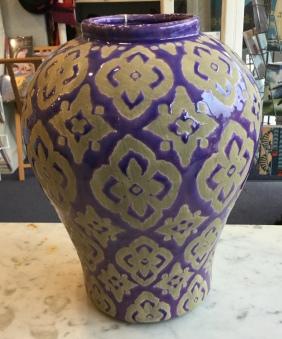 Gorgeous purple vase 30cm high