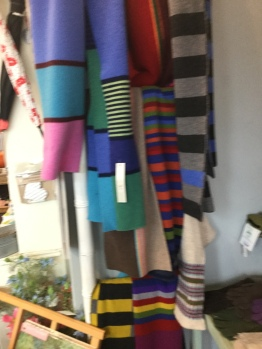 Scottish woollen scarves - just in time for the cold weather!