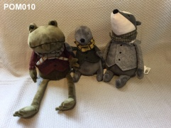 Jellycat Mr Toad ((21.99) Moley (£17.99) Badger (£21.99)