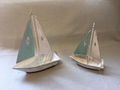 Metal Sailing Ships (25cm £11.99 19cm £7.99)