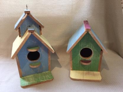 Decorative Bird Houses (30cm & 23 cm £19.50)