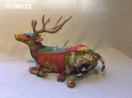 Febric seated deer (40 cm long) £28.50