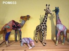 Fabric animals:Giraffe (40 cm) £26.50, Rhino (10cm) £15.50, Camel (36 cm) £22.50; Jute Giraffes (45 cm) £18.50, (24 cm) £9.50
