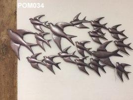 Metal Wall Art Swallows (86x44 cm) £43.50)