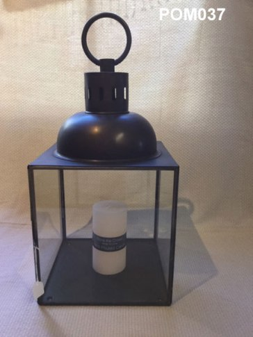 Bronzed Metal Lantern (49x15 cm) £36.50
